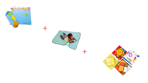 Baby set + Multipurpose Mat+Fitted Cotton sheet Combo