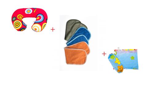 Premium Breastfeeding Pillow + Burping Cloth set +Baby set