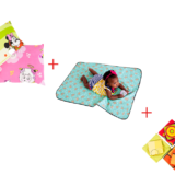 Toddler Pillow + Multipurpose Mat + Fitted Cotton Sheet